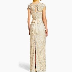 Adriana Papell Lace Illusion Gown